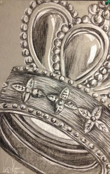 conte on gray paper