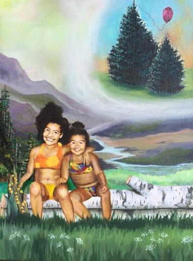 """12"""" X 16"""" Acrylic on canvas"""